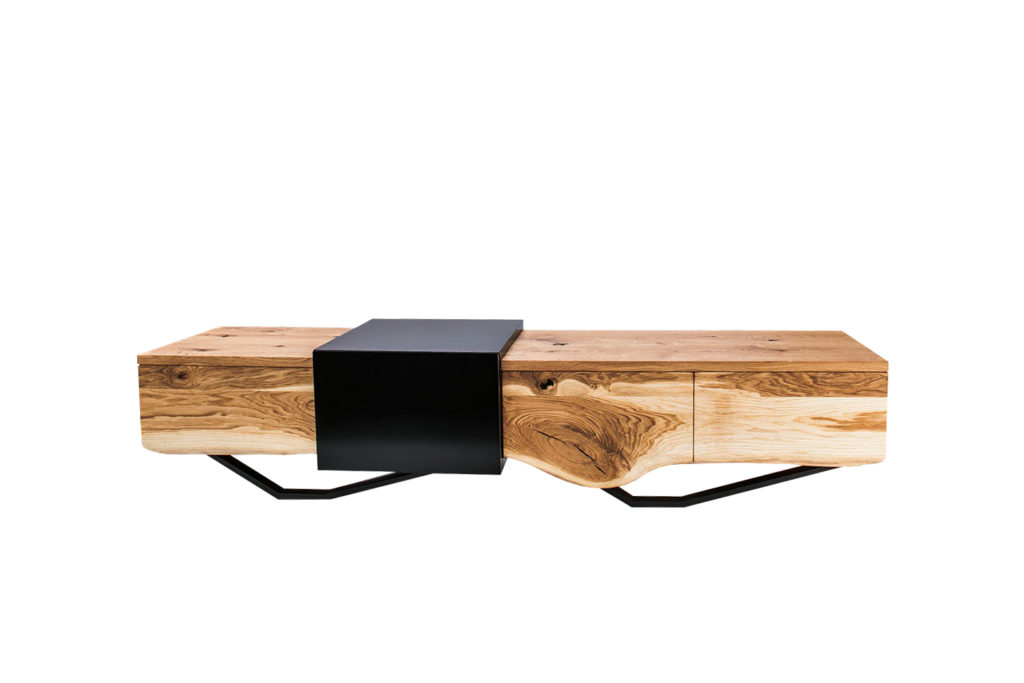 TV Bench Wave -made of solid wood
