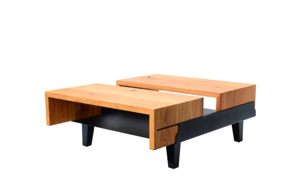 BOA table made of solid wood, loft, design